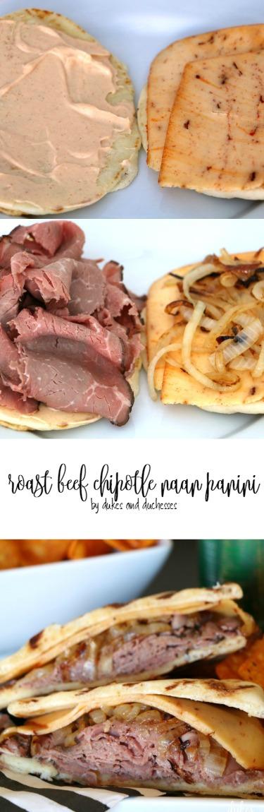 roast beef chipotle naan panini recipe