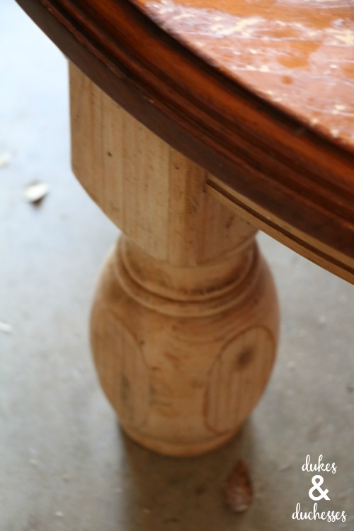 shortened table legs for bench