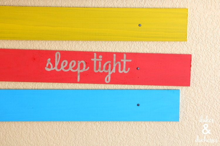 Colorful Plank Wall Art