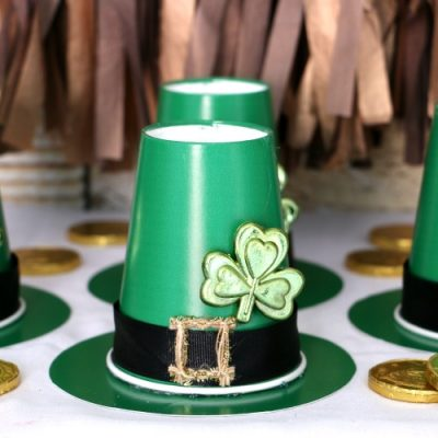 Upcycled Leprechaun Treat Cups