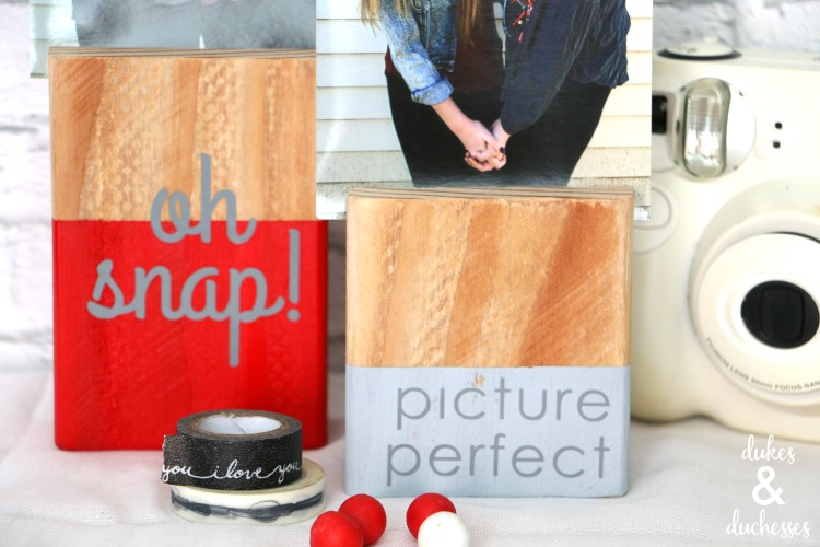 vinyl embellished wood photo block