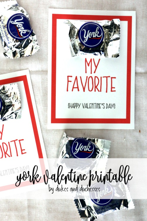 york valentine printable for valentine's day