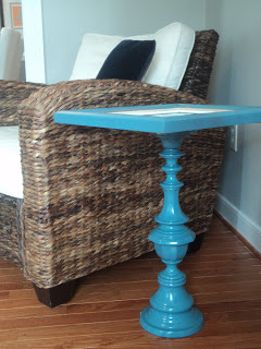 pedestal table made from a frame