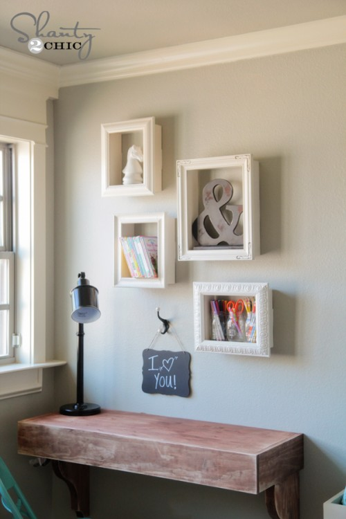 DIY frame box shelf