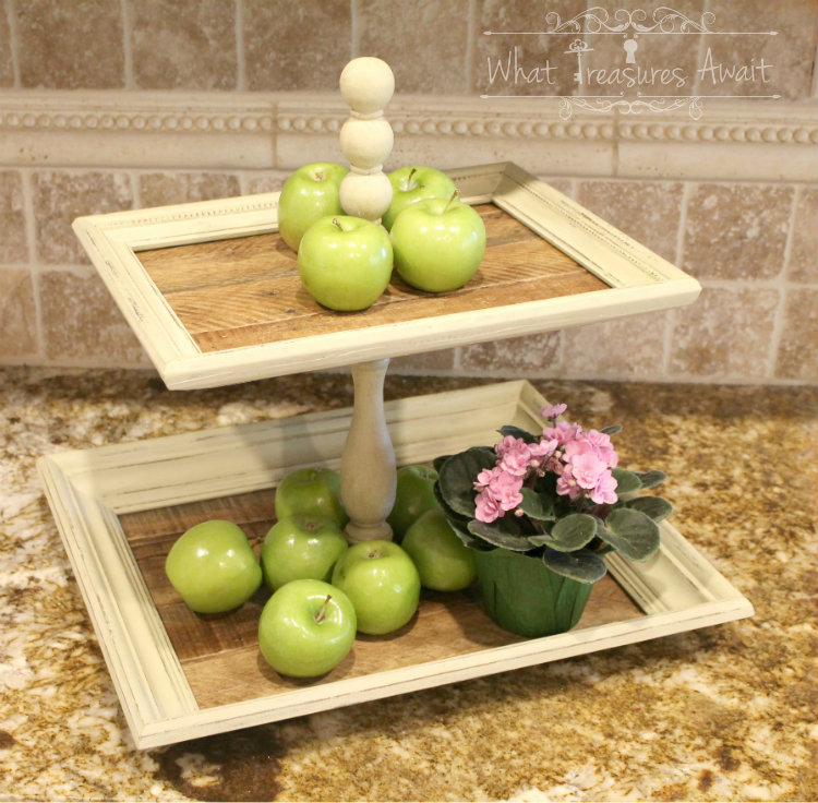 tiered tray made with frames