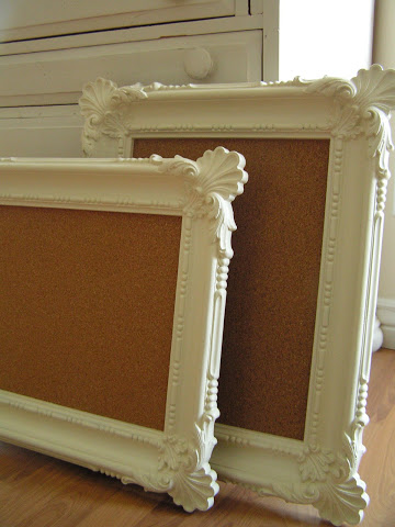 DIY framed cork boards