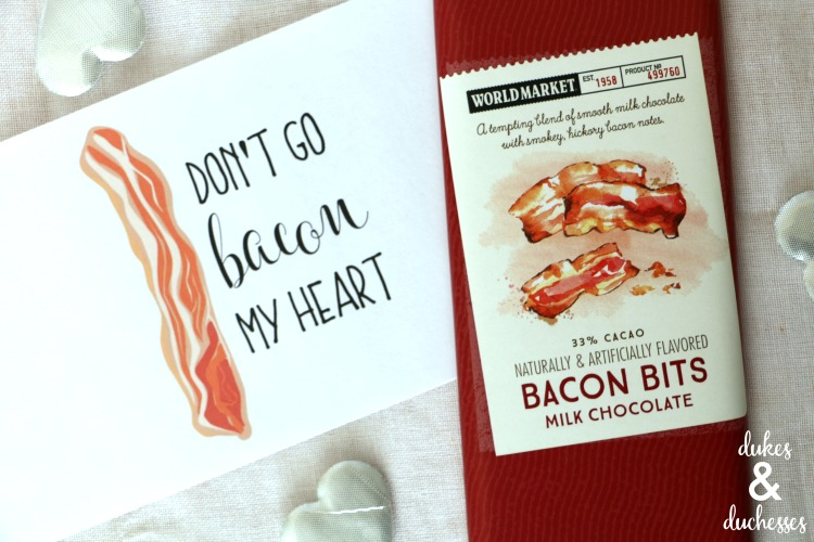 bacon printable candy bar wrapper