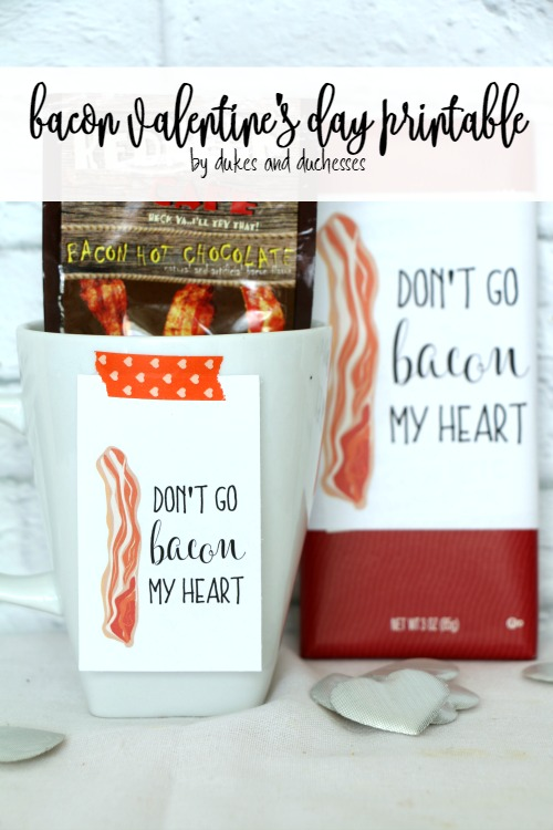 bacon valentine's day printable
