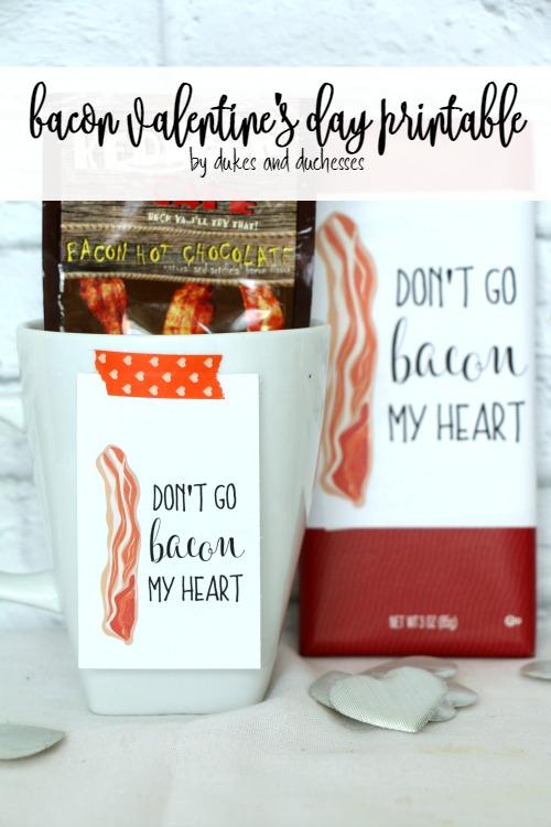 bacon valentine's day printable