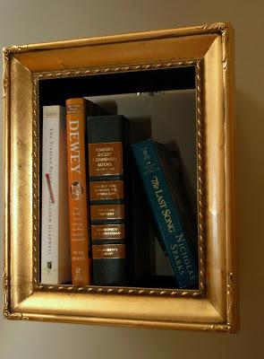 upcycled book shelf frame