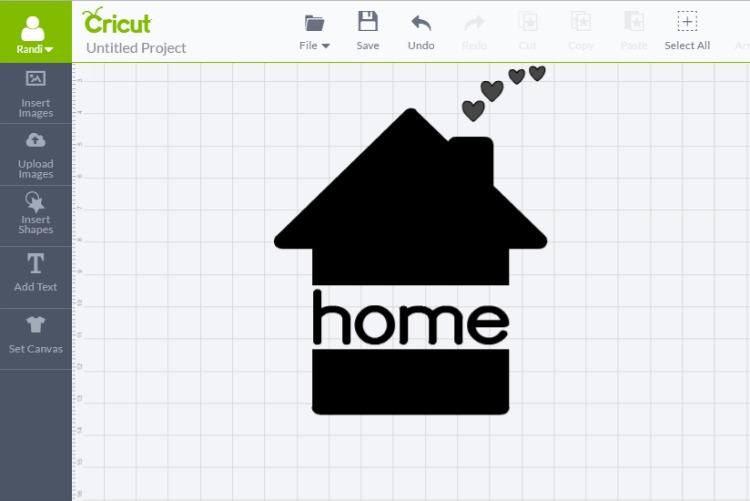 home image on cricut design space