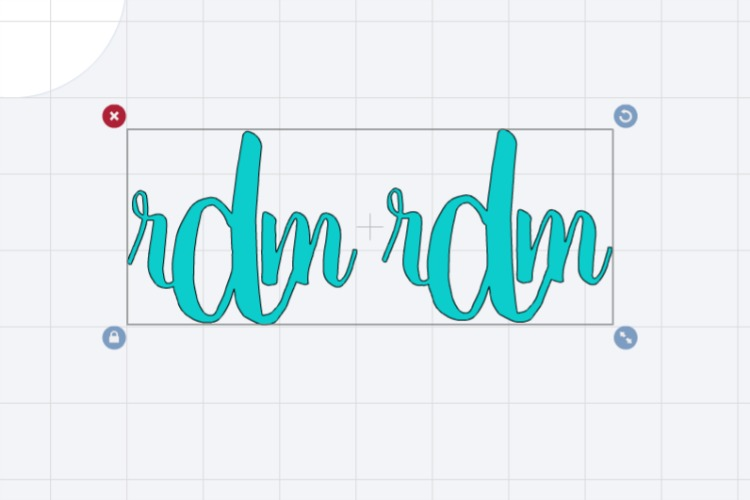 monogram made on cricut design space