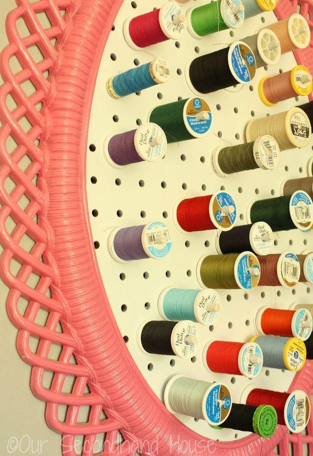 thrift store frame thread holder