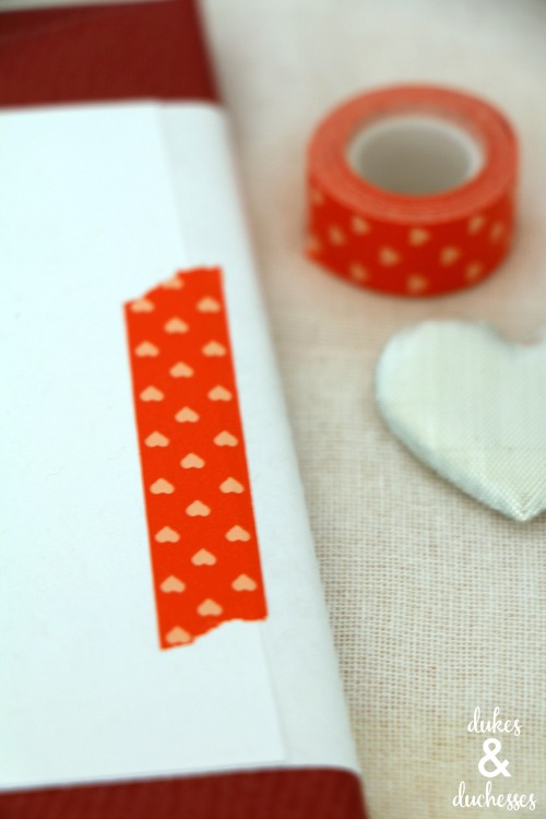 washi tape on printable candy bar wrapper