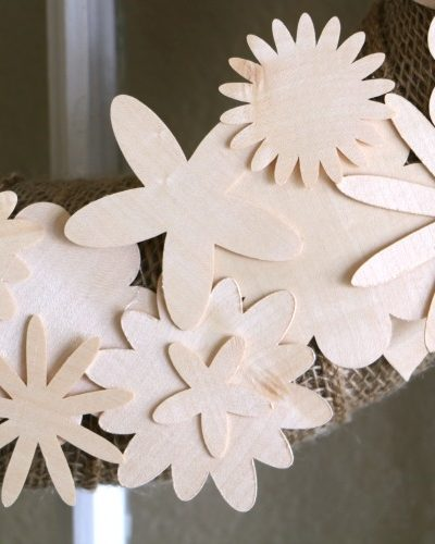 wood veneer flowers cut with cricut