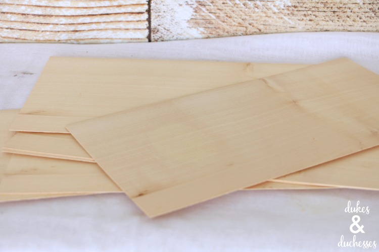 wood veneer sheets for DIY wreath