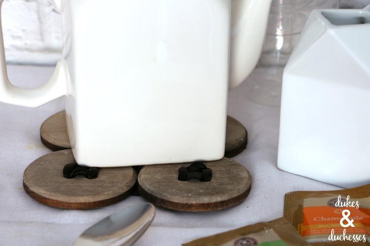 wooden DIY trivet