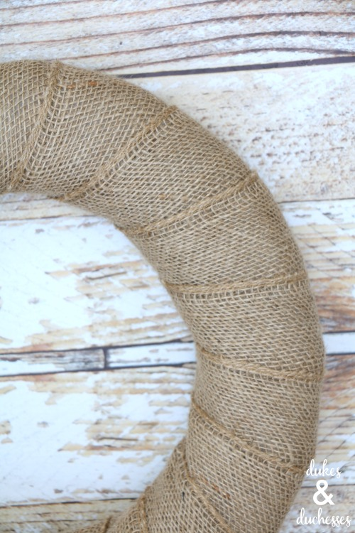 wrapped burlap wreath