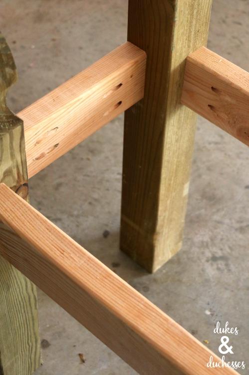 DIY bench frame