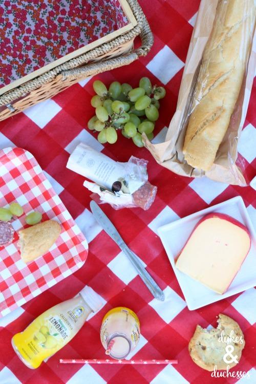 DIY gingham painted picnic blanket