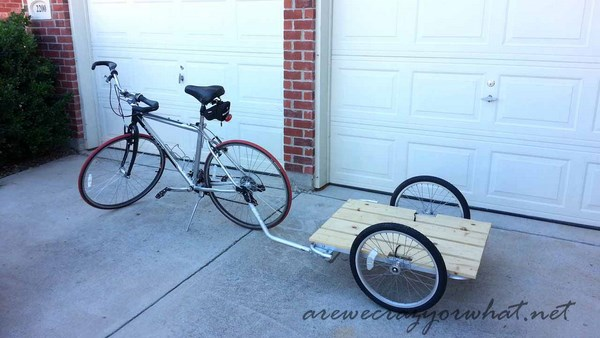 how to build a DIY bike trailer