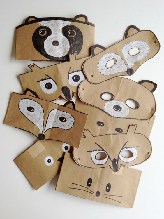 paper bag animal masks