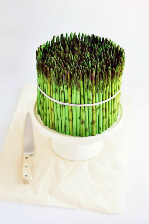 asparagus cake for april fool's day