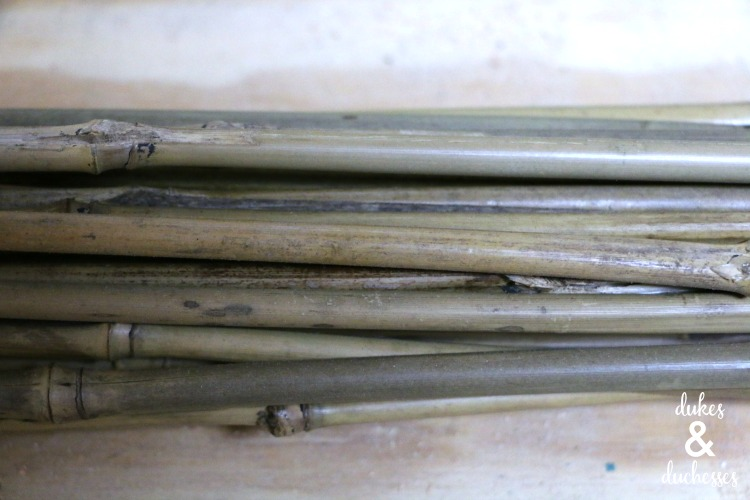 bamboo pieces to make bee house