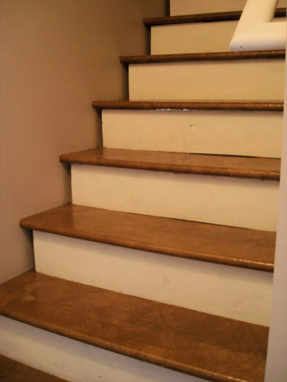 brown paper stairs