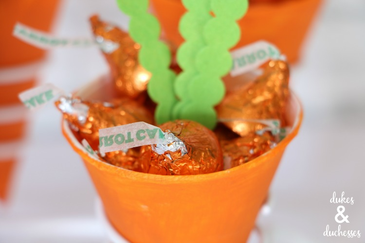 carrot candy cones for easter