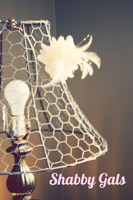 chicken wire lampshade