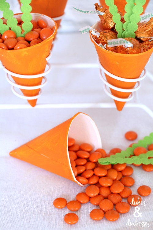 easter carrot treat cones