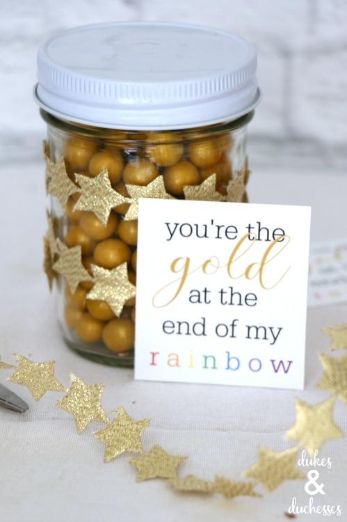 gold and rainbow printable