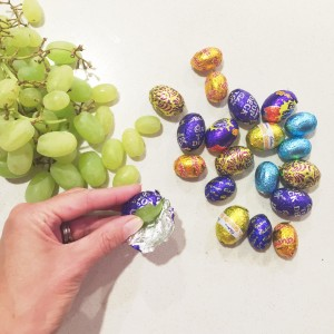 grapes in candy wrappers for april fool's day