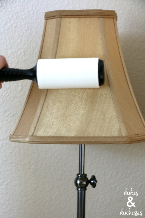 how to clean a lampshade