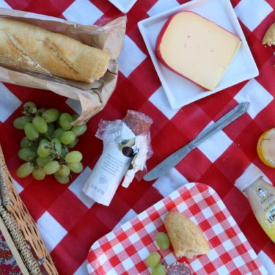 DIY Weighted Dropcloth Picnic Blanket