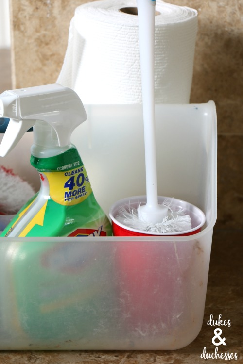 how to store a toilet brush in a caddy