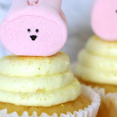 Marshmallow Bunny Cupcakes