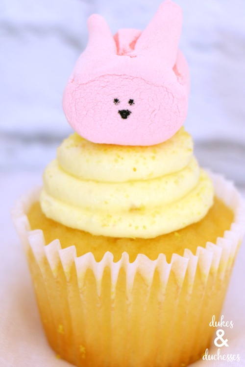 marshmallow bunny topped cupcakes