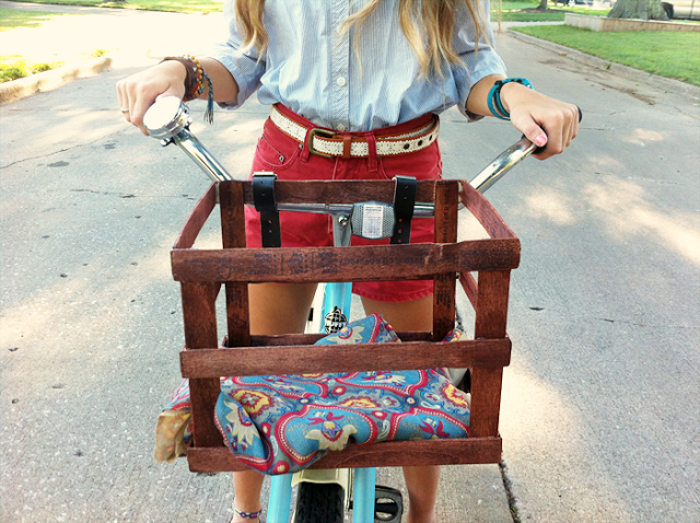 paint stick bike basket