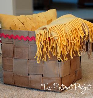 paper bag woven basket