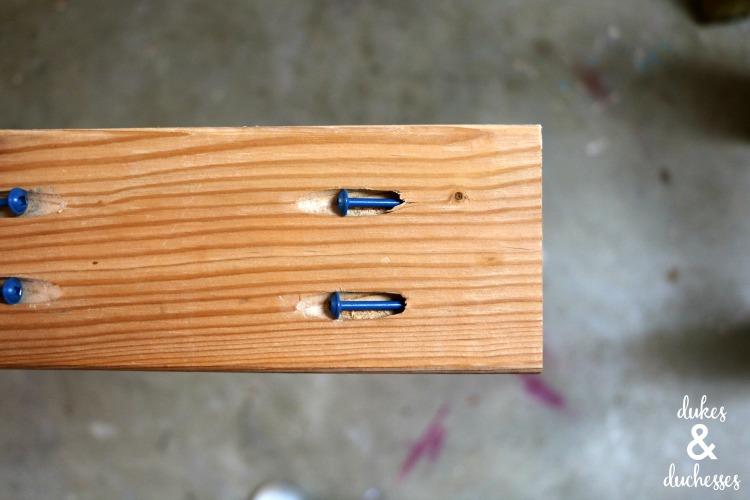 pocket holes to attach garden bench