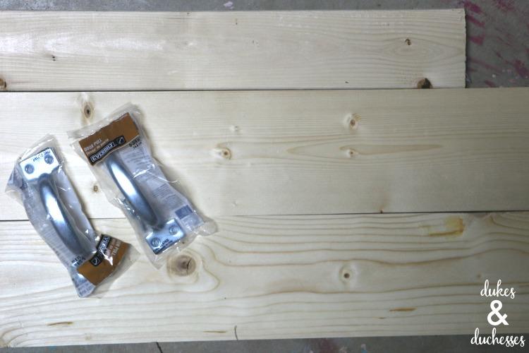 supplies for DIY bathtub tray