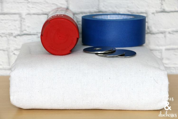 supplies to make DIY picnic blanket