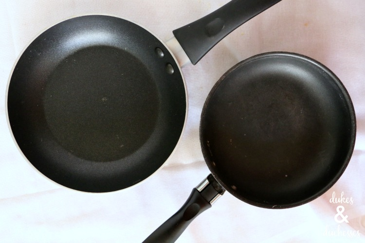 thrift store frying pans to make garden markers