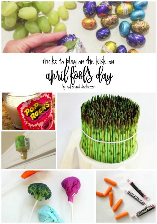 tricks to play on the kids on april fool's day