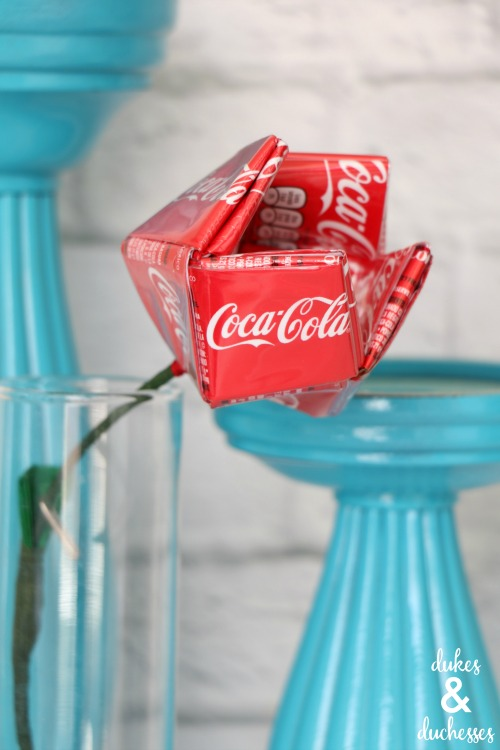 upcycled coke can flower