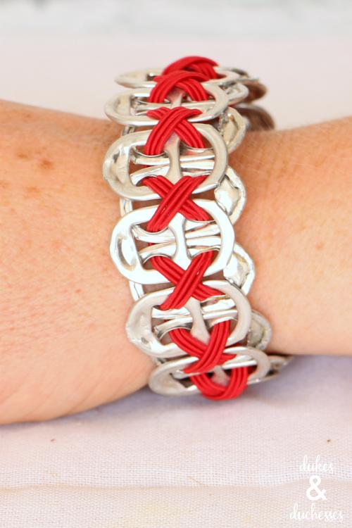upcycled coke tab bracelet