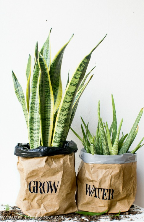 waterproof paper planter bags