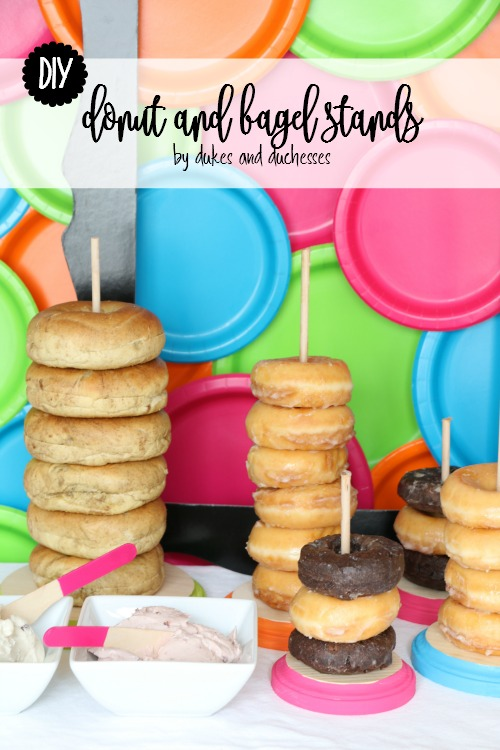 DIY donut and bagel stands